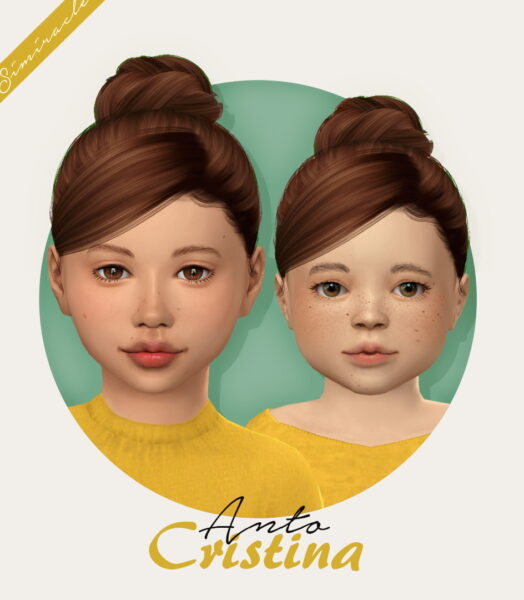 Simiracle: Anto`s Cristina hair retextured for Sims 4