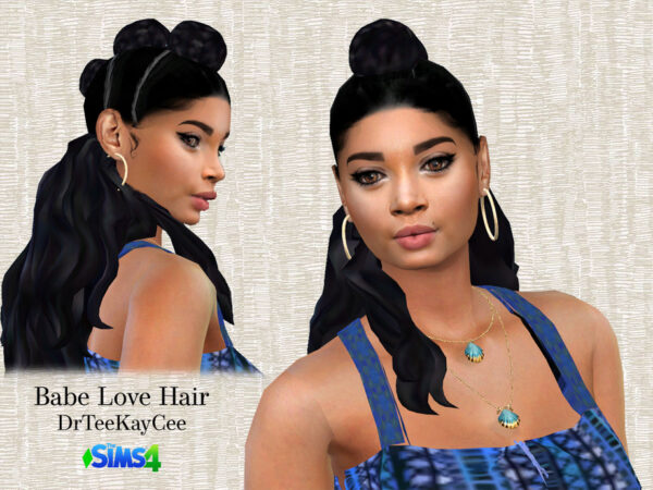 The Sims Resource: Babe Love Hairstyle by drteekaycee for Sims 4