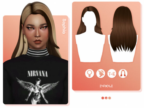 The Sims Resource: Sophia Hairstyle by EnriqueS4 for Sims 4