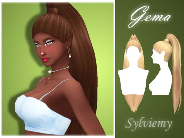 The Sims Resource: Gema Hairstyle by Sylviemy for Sims 4