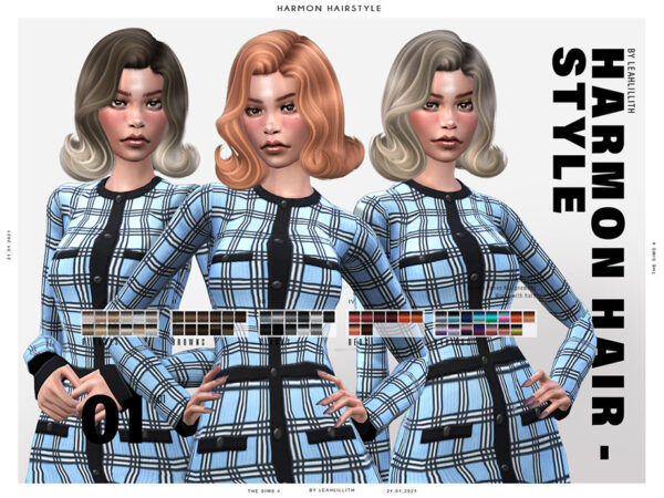 The Sims Resource: Harmon Hairstyle by LeahLillith for Sims 4