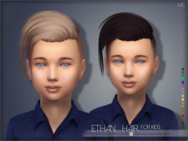 The Sims Resource: Ethan Hair for Kids by Mathcope for Sims 4