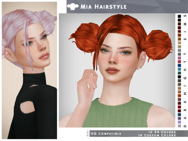 The Sims Resource: Mia Hairstyle by DarkNighTt for Sims 4
