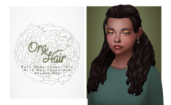 Isjao: Ora Hair for Sims 4