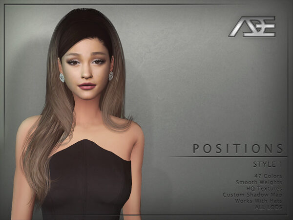 The Sims Resource: Positions Style 1 Hair by Ade Darma for Sims 4