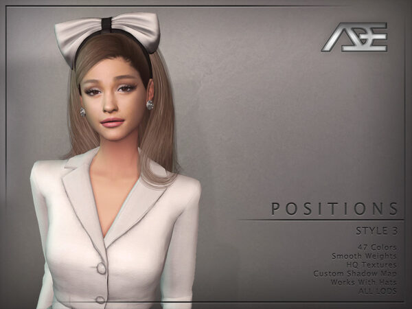 The Sims Resource: Positions Style 3 Hairstyle by Ade Darma for Sims 4