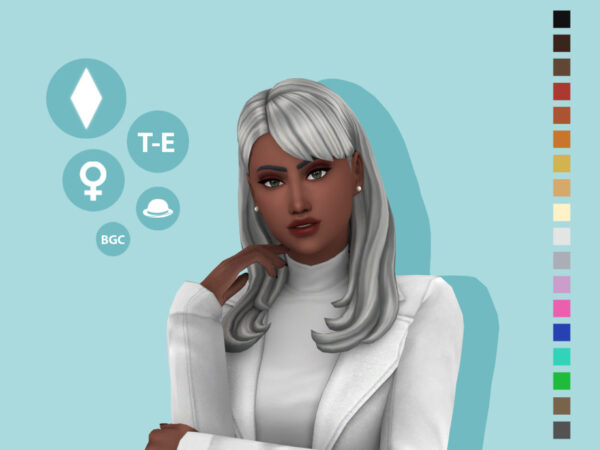 The Sims Resource: Rachel Hairstyle by simcelebrity00 for Sims 4