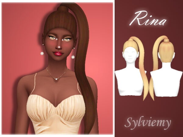 The Sims Resource: Rina Hairstyle by Sylviemy for Sims 4