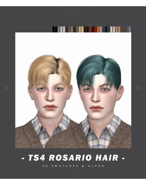 Effie: Rosario Hair for Sims 4