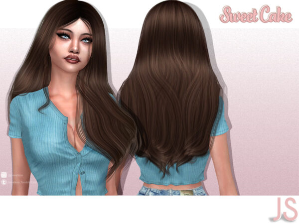 The Sims Resource: Sweet Cake Hairstyle by JavaSims for Sims 4