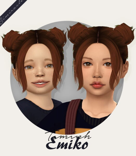 Simiracle: Tsminh`s Emiko Hair Retextured for Sims 4