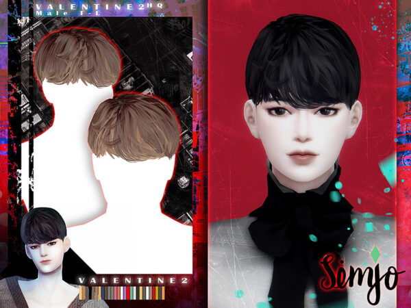 The Sims Resource: Valentine 2 Hair by KIMSimjo for Sims 4