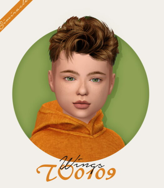Simiracle: Wings TO0109 hair retextured for Sims 4