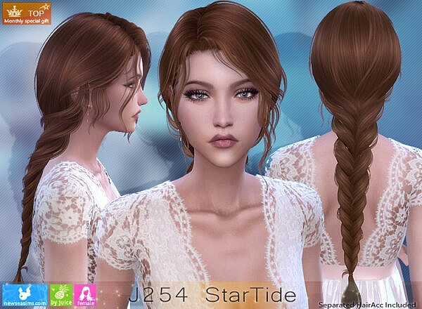 Star Tide Hairstyle ~ NewSea for Sims 4