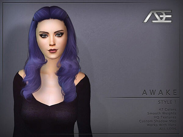 Ade Darma`s Awake Style 1 Hairstyle ~ The Sims Resource for Sims 4