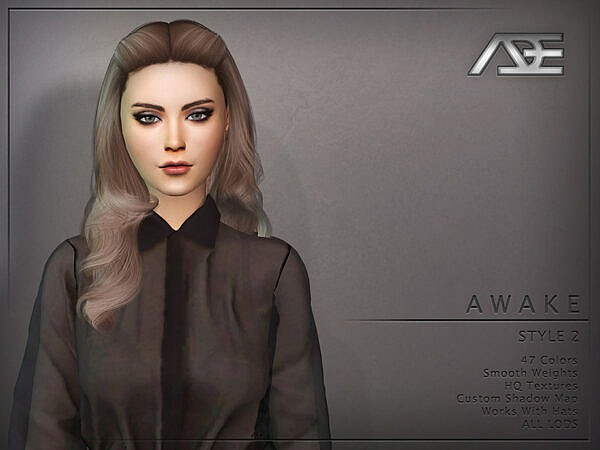 Ade Darma`s Awake Style 2 Hairstyle ~ The Sims Resource for Sims 4