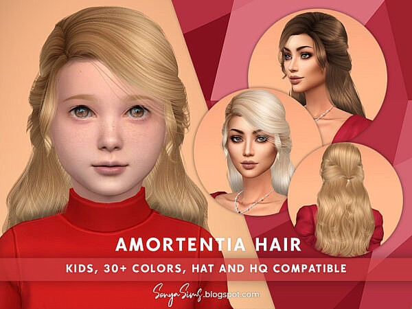 Amortentia Hair Girls by SonyaSimsCC ~ The Sims Resource for Sims 4