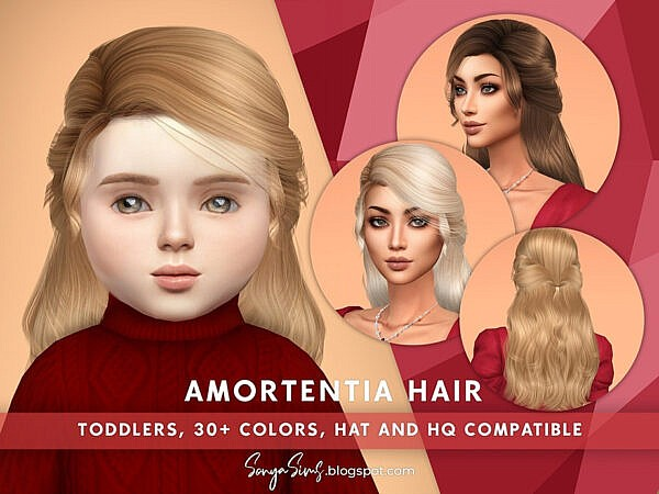 Amortentia Hair T by SonyaSimsCC ~ The Sims Resource for Sims 4