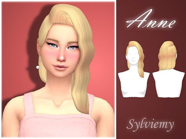 Anne Hair by Sylviemy ~ The Sims Resource for Sims 4