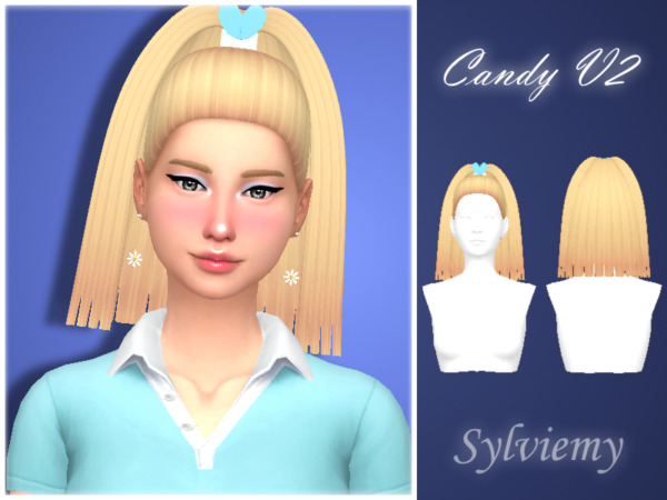 Candy V2 Hair by Sylviemy ~ The Sims Resource for Sims 4