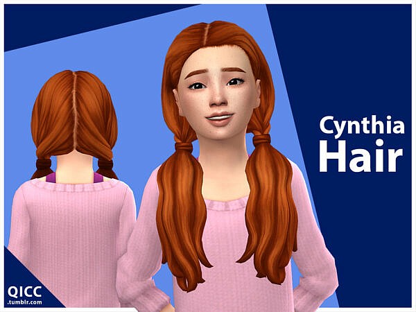 Cynthia Hair by qicc ~ The Sims Resource for Sims 4
