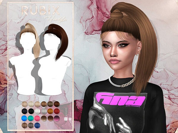 JavaSims Rubix Hairstyle ~ The Sims Resource for Sims 4