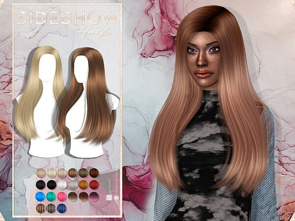 JavaSims Side Show Hairstyle ~ The Sims Resource for Sims 4