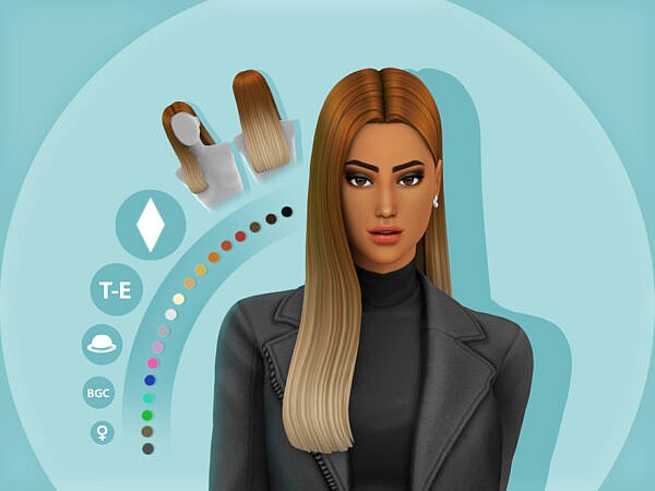 Jessica Hairstyle by simcelebrity00 ~ The Sims Resource for Sims 4