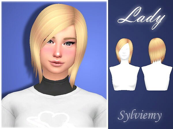 Lady Hair by Sylviemy ~ The Sims Resource for Sims 4