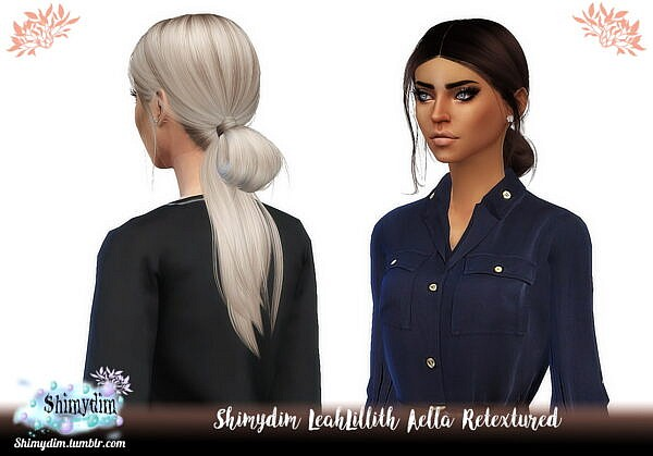 Aella Hair Retextured by LeahLillith ~ Shimydim for Sims 4