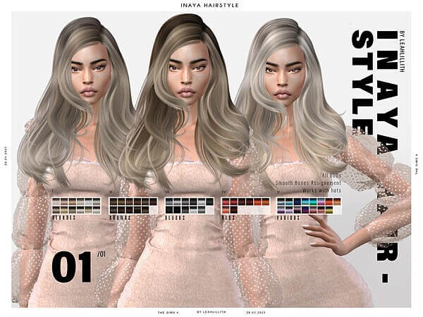 LeahLillith Inaya Hairstyle ~ The Sims Resource for Sims 4
