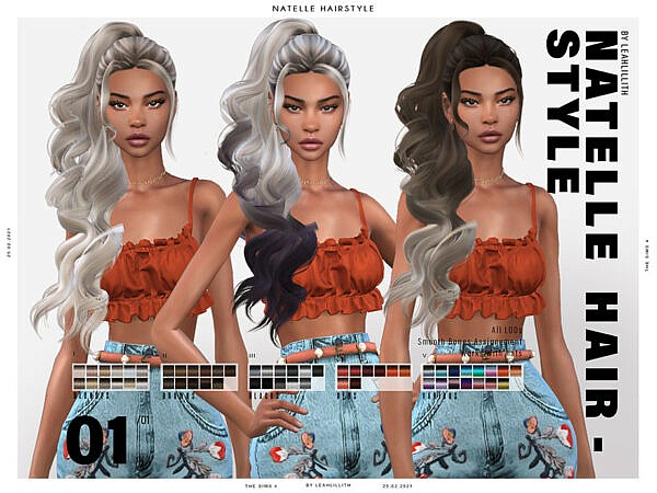 LeahLillith`s Natelle Hair ~ The Sims Resource for Sims 4