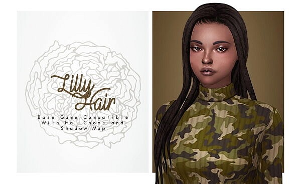 Lilly Hair ~ Isjao for Sims 4