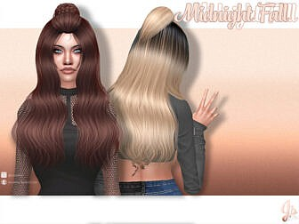 Midnight Fall Hair by JavaSims