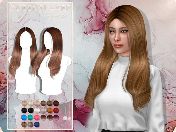 Queens Layer Hair by JavaSims ~ The Sims Resource for Sims 4