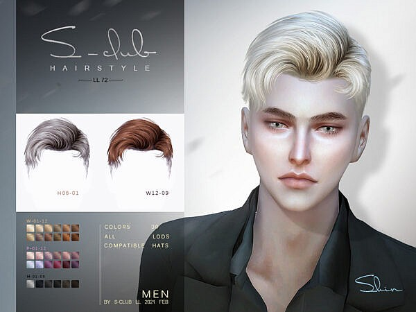 S-Club Shin Hair sims 4 cc
