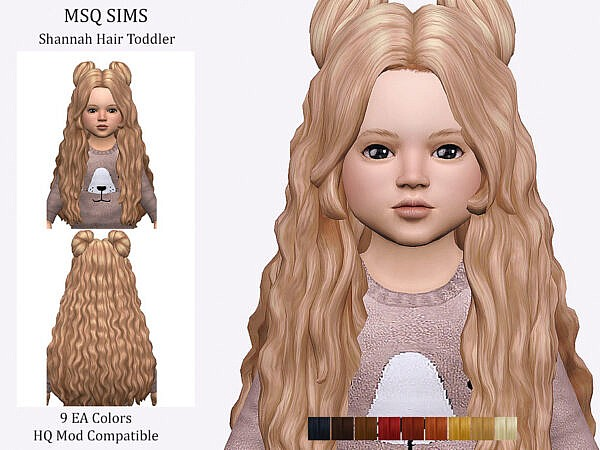 Shannah Hair Toddler ~ The Sims Resource for Sims 4