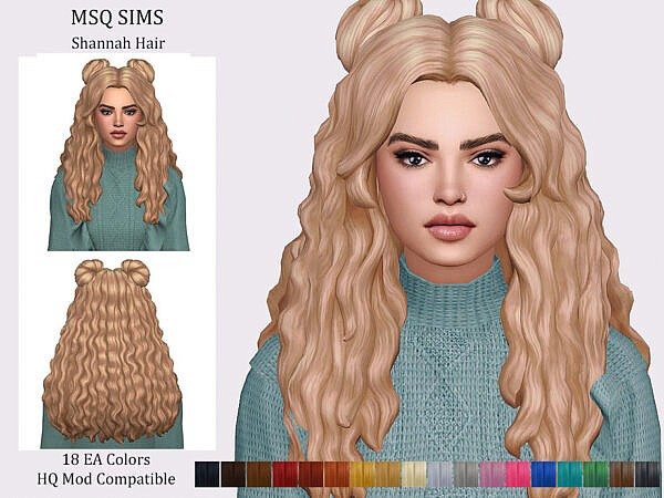 Shannah Hair by MSQSIMS ~ The Sims Resource for Sims 4