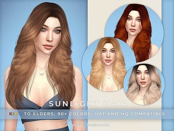 Sunlight Hair by SonyaSimsCC ~ The Sims Resource for Sims 4