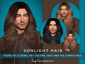 Sunlight Hair for him by SonyaSimsCC
