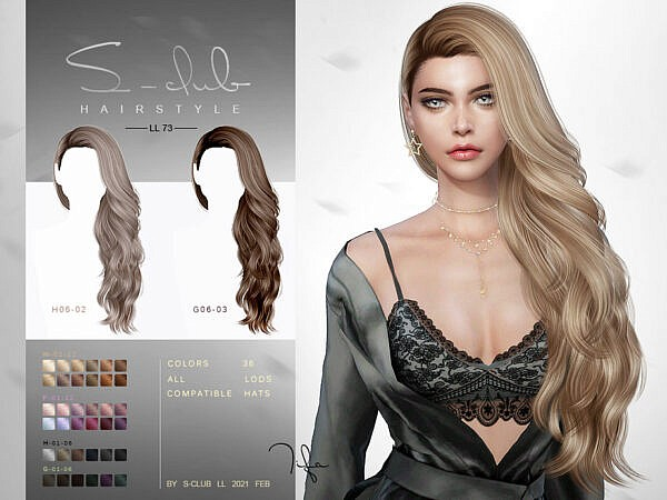 Tifa Hairstyle by S Club ~ The Sims Resource for Sims 4