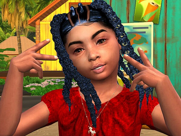 Jaquettas Baby Braids by drteekaycee ~ The Sims Resource for Sims 4