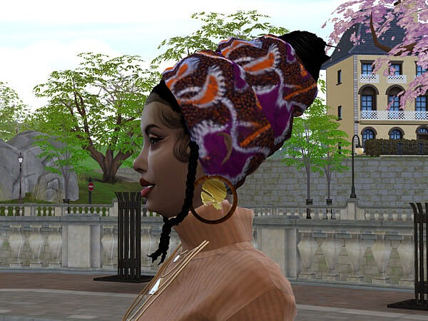 African Head Wrap Updo III by drteekaycee ~ The Sims Resource for Sims 4