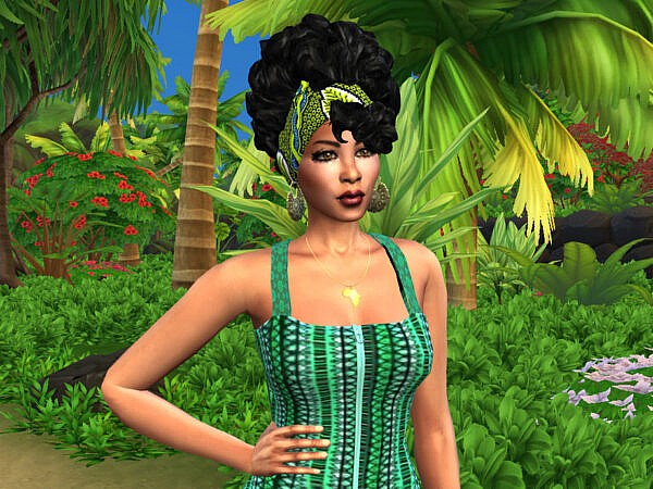 African Curls Head Wrap II by drteekaycee ~ The Sims Resource for Sims 4