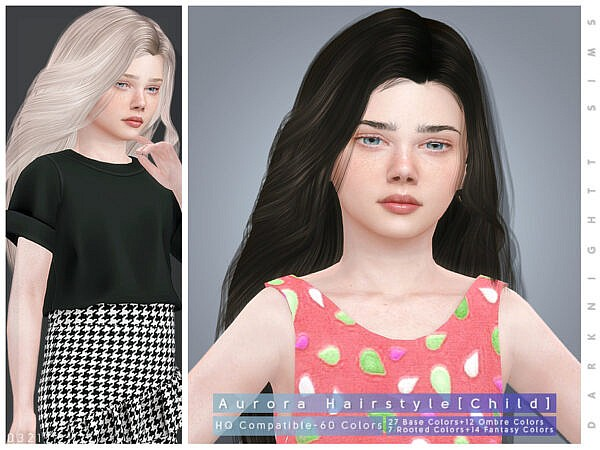 Aurora Hairstyle by DarkNighTt ~ The Sims Resource for Sims 4