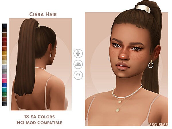 Ciara Hair by MSQSIMS ~ The Sims Resource for Sims 4