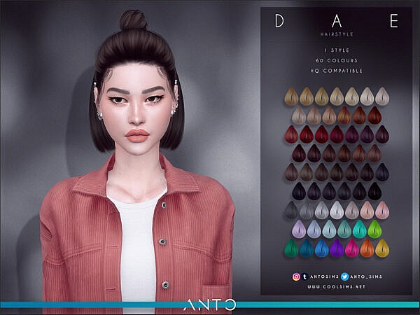 Anto Dae Hairstyle ~ The Sims Resource for Sims 4