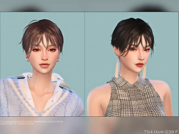 DaisySims Hair G39 ~ The Sims Resource for Sims 4
