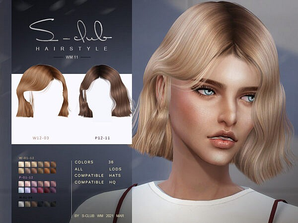 Hair 20211 by S Club ~ The Sims Resource for Sims 4