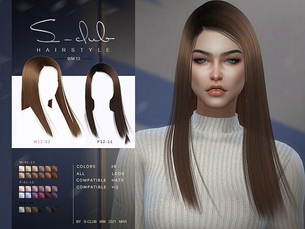 Hair 202113 by S Club ~ The Sims Resource for Sims 4